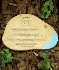 footprints in the sand garden stone