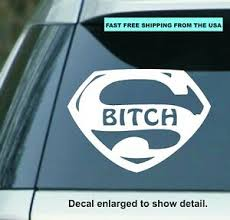 5 5 Super B Tch Vinyl Decal Sticker Car Truck Yeti Cup Window Ipad Laptop Ebay