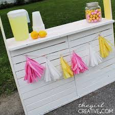 diy lemonade stand the girl creative