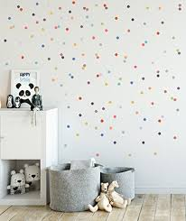 Amazon Com Baby Nursery Wall Decals Rainbow Polka Dots Baby Nursery Wall Decal Kids Wall Decal Modern Nursery Vinyl Children Room Art Polka Dots Handmade