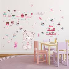 Zoomie Kids Hindsboro Macaron Bear Internal Nursery Wall Decal Wayfair