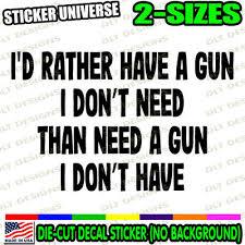 Pro Gun Rights Quote 2a Car Window Decal Bumper Sticker 2nd Amendment Carry 1080 Ebay