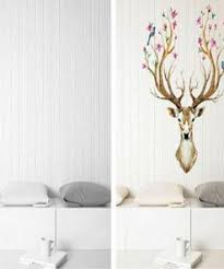3d Plum Flower Deer Wall Stickers Animal Hug
