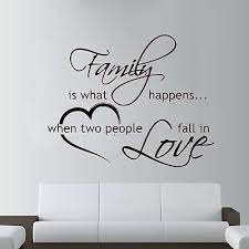 Large Family Wall Sticker Fall In Love Wall Art Home Living Room Decal Bed Ebay
