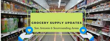 cover photo, Image may contain: possible text that says 'GROCERY SUPPLY UPDATES San Antonio & Sourrounding Areas'