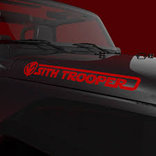 Sith Trooper Decal Set Of Two Stickers Nerdecal Star Wars Jeep Decals