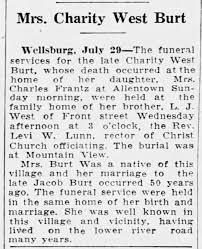 Burt,Charity-nee West-obituary-29Jul1925-cc - Newspapers.com