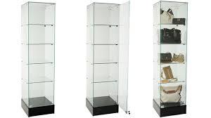 retail tower display case frameless