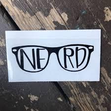 Nerd Glasses Geek Car Laptop Or Decor Vinyl Decal Etsy