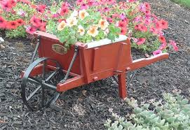 amish old fashioned wheelbarrow mini