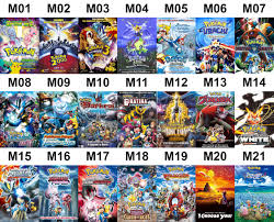 A list of every animated movie for Pokemon (except for M22), which ...