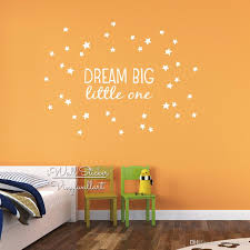 Dream Big Little One Quote Wall Sticker Kids Wall Quotes Decals Children Room Decal Diy Removable Wall Decor Cut Vinyl Kids Room Wall Stickers Kids Vinyl Wall Art From Joystickers 12 57 Dhgate Com