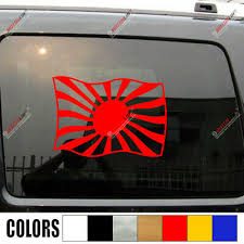 Decals Handmade Products Set Of 2 Japan Japanese Flag For Left And Right Side Rising Sun Naval Flag Rear Window Sticker Decal Car Truck Suv Jdm Lot Pack Set V1 Many Sizes