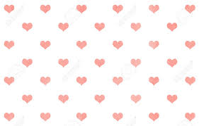 watercolor light pink hearts on white