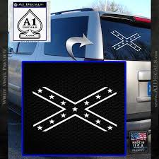 Rebel Confederate Flag X Decal Sticker Dn A1 Decals
