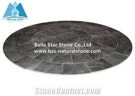 slate circle charcoal grey slate paving