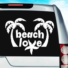 Beach Love Sea Star Vinyl Car Window Decal Sticker