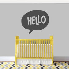 Shop Hello Word Bubble 36 X 32 Inch Wall Decal On Sale Overstock 12090684