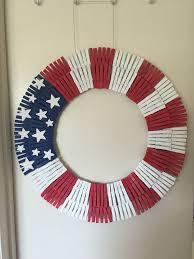 double patriotic clothespin wreath