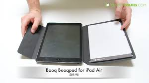 best ipad air case with notepad booq