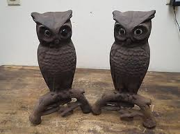 antique rostand 407e cast iron owl