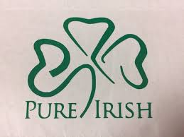 Pure Irish Shamrock Vinyl Decal Window Art Custom Decal Etsy