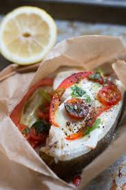Halibut Baked in Parchment Paper ...