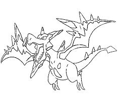 Kleurplaat Pokemon Mega Evolutie Mega Aerodactyl 142 142