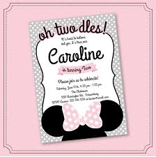 Minnie Mouse Invitation Oh Twodles Invitation 2nd Birthd