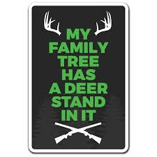 Family Tree Has A Deer Stand 3 Pack Of Vinyl Decal Stickers Walmart Com