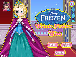 clic fashion elsa dress up game game