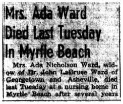 Ada Nicholson Ward (1885-1963) - Find A Grave Memorial