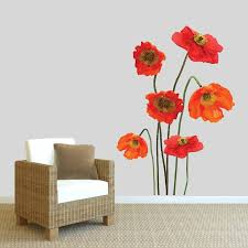 Red Barrel Studio Poppies Printed Wall Decal Wayfair