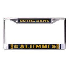 University Of Notre Dame Alumni Chrome License Plate Frame Etsy