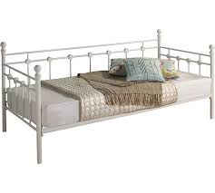 bed frame white day beds argos