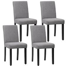 Dining Chair Set Of 4 Elegant Design Modern Fabric Upholstered Dining Chair For Dining Room Grey Walmart Com Walmart Com