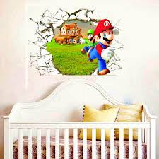 Super Mario Cracked 3d Wall Decal American Wall Decals