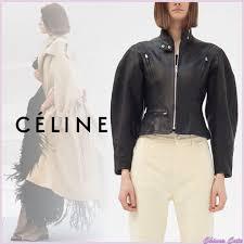 19aw short plain leather biker jackets