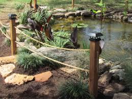 Rope Fence Koi Pond Goproponds The Pond Doctor Ponds Backyard Rope Fence Natural Pond