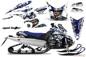Amr Racing Graphics Snowmobile Graphics Kit Decal Sticker Wrap Hatter Blue White Yamaha Fx Nytro 08 14 Yam Fx Nytro 08 14 Hat U W