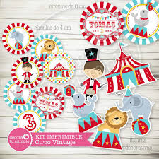 Kit Imprimible Circo Invitaciones Candybar Cumpleanos 430 00