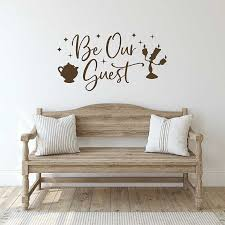 Beauty And The Beast Wall Decals Quotes Be Our Guest Vinyl Wall Decal Entrance Hall Guest Room Decor Kids Room Wall Decor X002 Wall Stickers Aliexpress