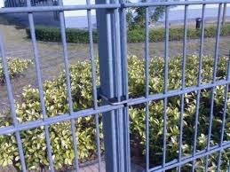 China Galvanized Welded Wire Mesh Double Wire Fence For Garden China Doubel Wire Fencing Double Weft Security Fence