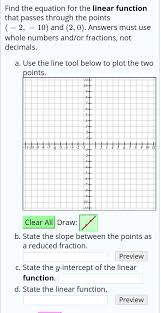 equation for the linear function