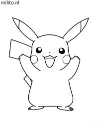 Kleurplaat Pokemon Pikachu De Mooiste Kleurplaten Milito Nl