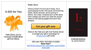 kindle book gift book code