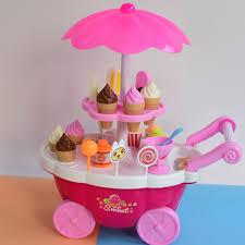Đồ chơi xe bán kem, xe đẩy kem có nhạc Sweet Cant, đồ chơi dành cho bé gái