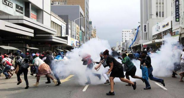 Image result for violent union riots sa""