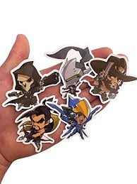 Overwatch Heroes Cute Spray Vinyl Stickers Pack Of 25 Overwatch Merchant