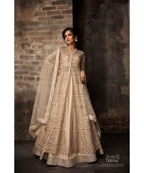 chagne colour wedding dress by zoya